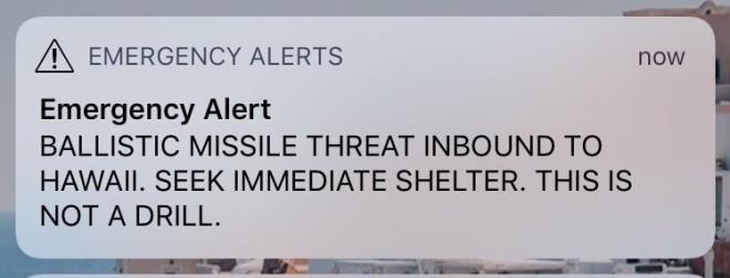 hawaii ballistic missile threat