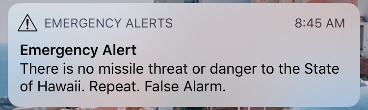 hawaii ballistic missile threat