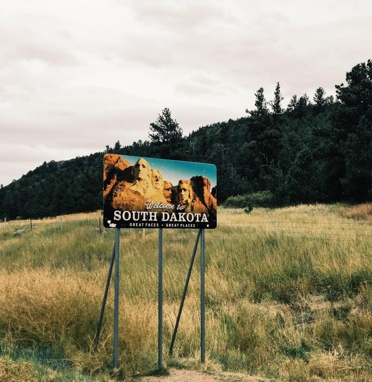 south dakota border sign