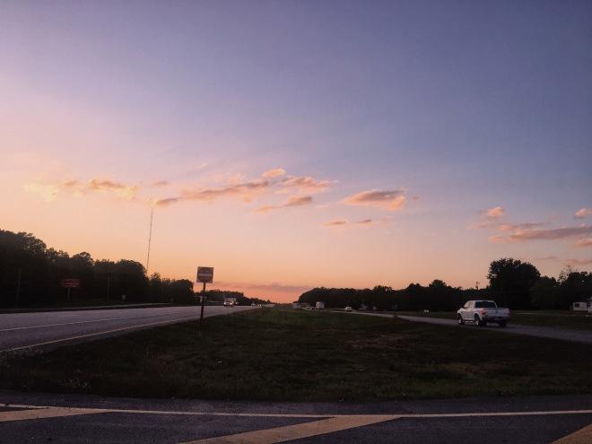 missouri highway sunset